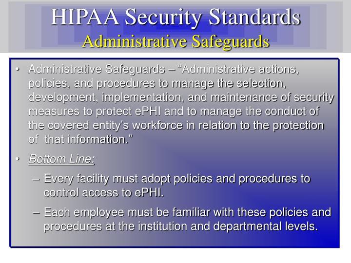 HIPAA Security Standards