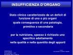 insufficienza d organo