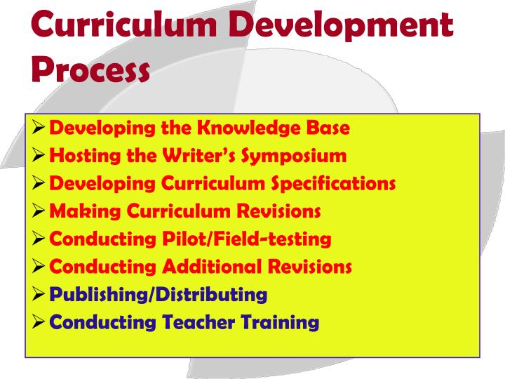 """curriculum development process 3 """"curriculum development"""" by judith howard center for the advancement of teaching and learning elon university process in which personal interactions within the learning environment take on considerable."""