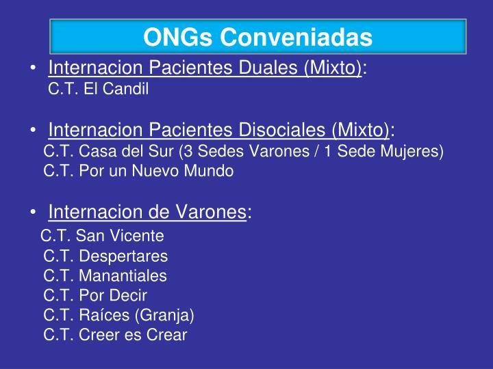 ONGs Conveniadas