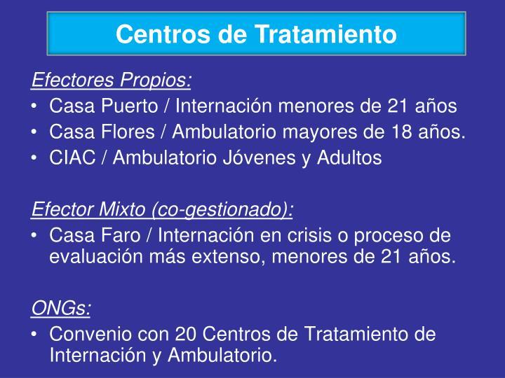 Centros de Tratamiento