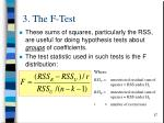 3 the f test