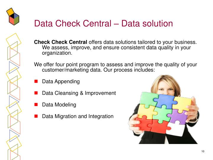 Data Check Central – Data solution