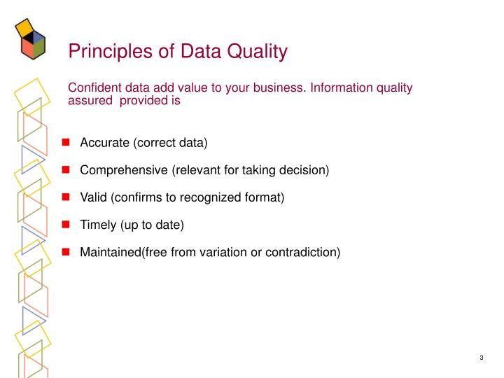 Principles of Data Quality