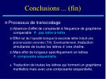 conclusions fin