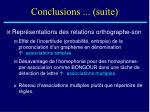 conclusions suite