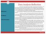 data analysis reflection30