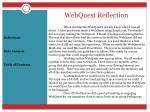 webquest reflection