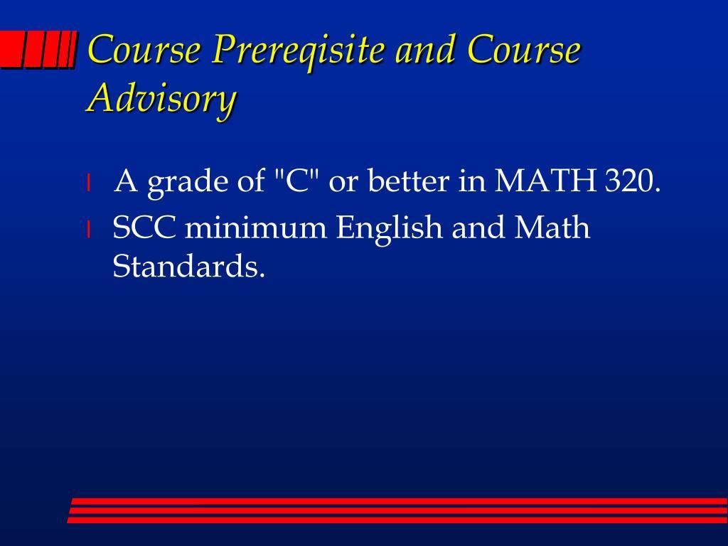 Course Prereqisite and Course Advisory