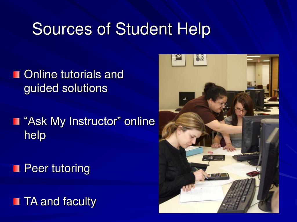 Sources of Student Help