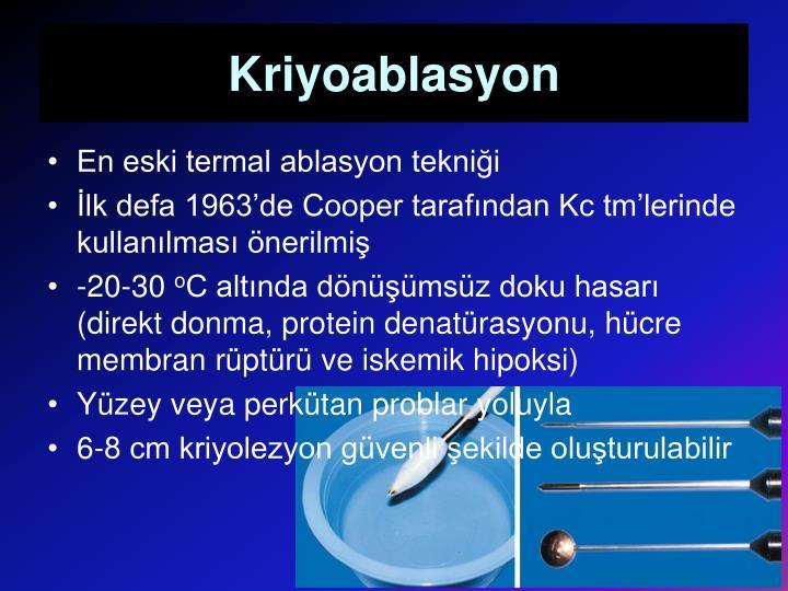 Kriyoablasyon