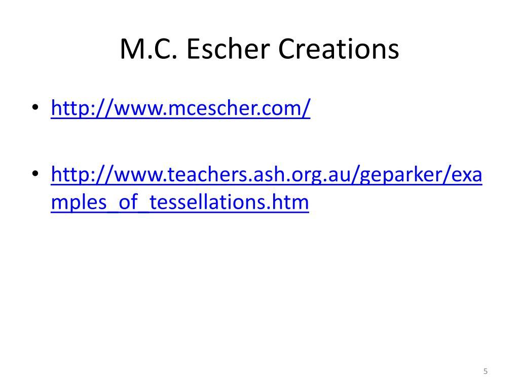 M.C. Escher Creations