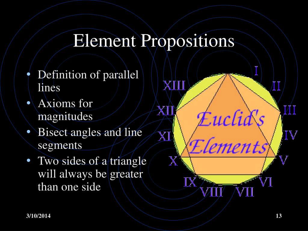 Element Propositions