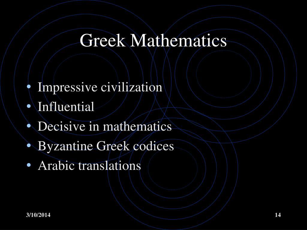 Greek Mathematics