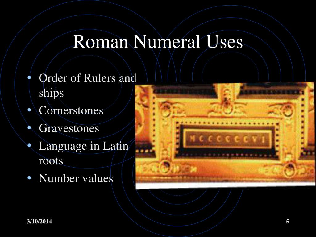 Roman Numeral Uses