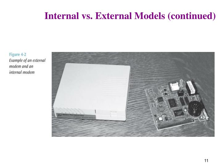 Internal vs. External Models (continued)