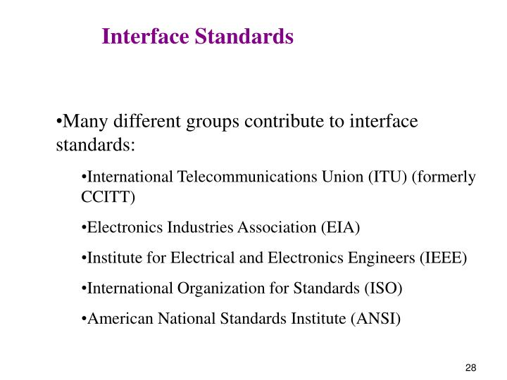Interface Standards
