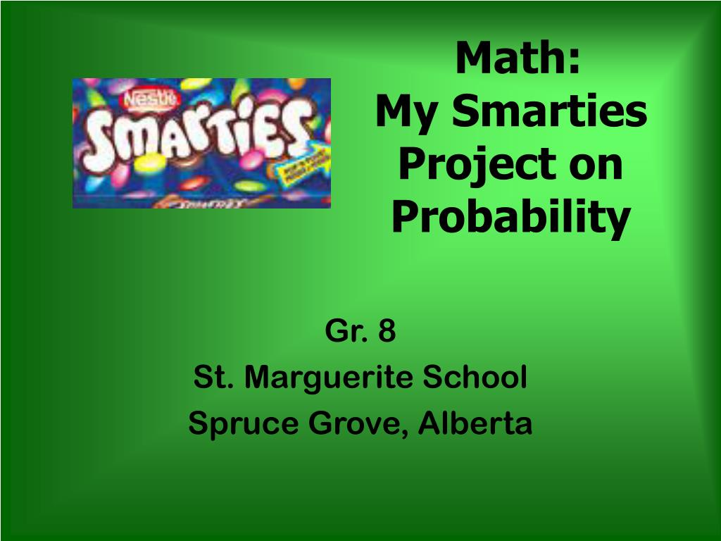 math my smarties project on probability