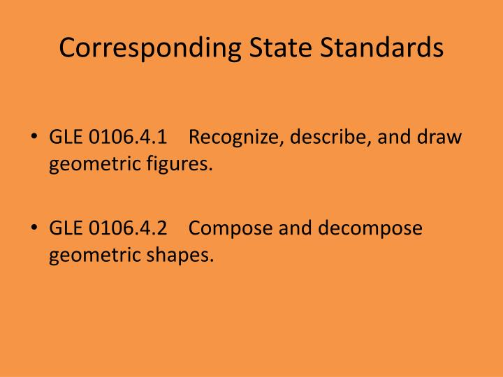 Corresponding state standards