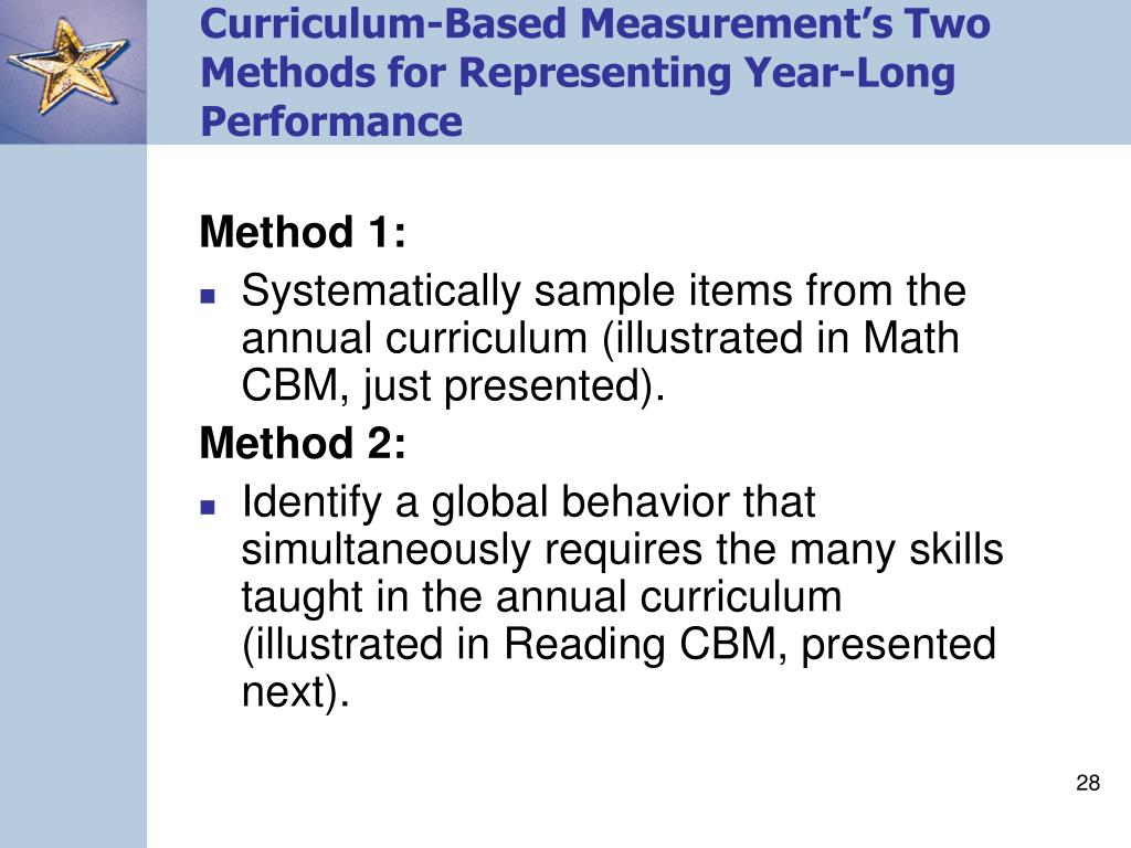 Curriculum-Based Measurement's Two Methods for Representing Year-Long Performance