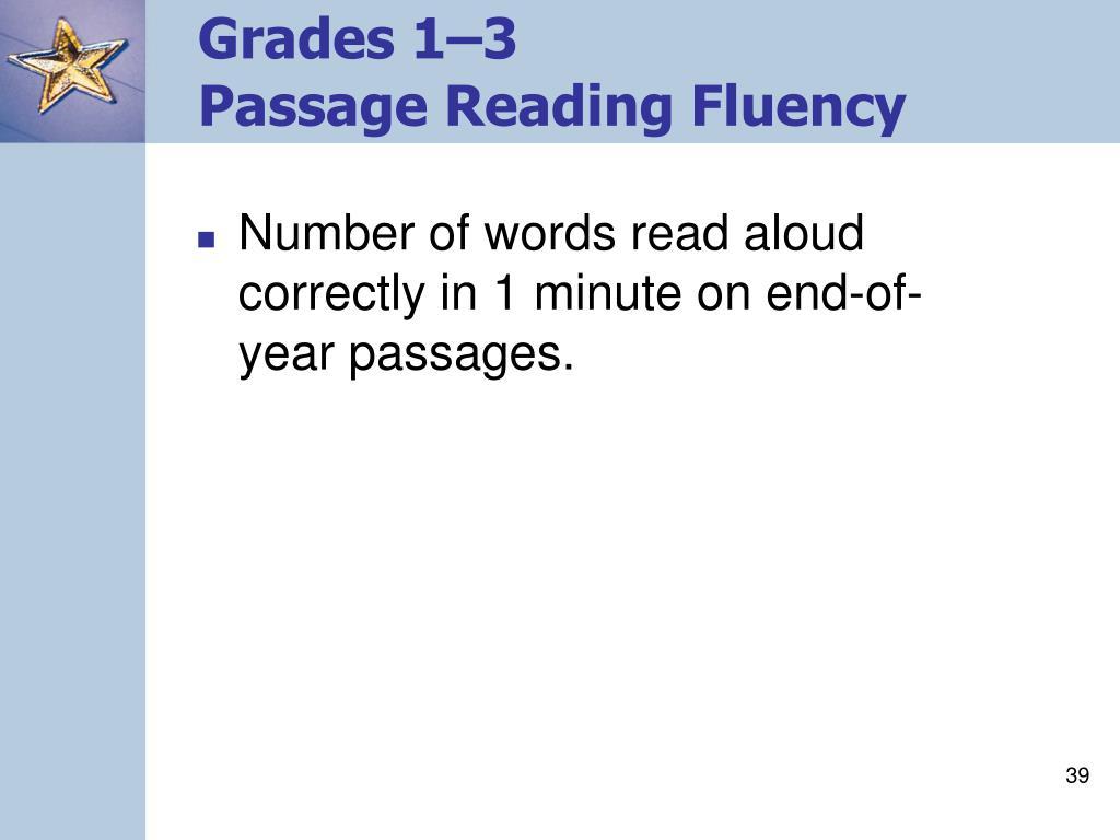 Grades 1–3