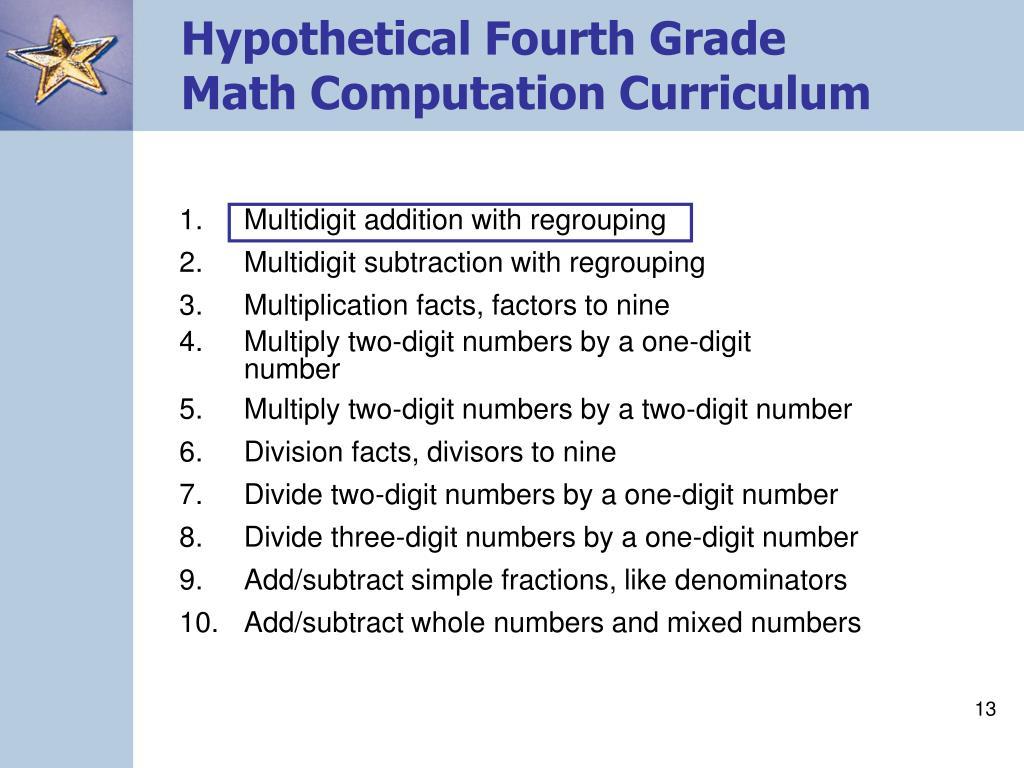 Hypothetical Fourth Grade