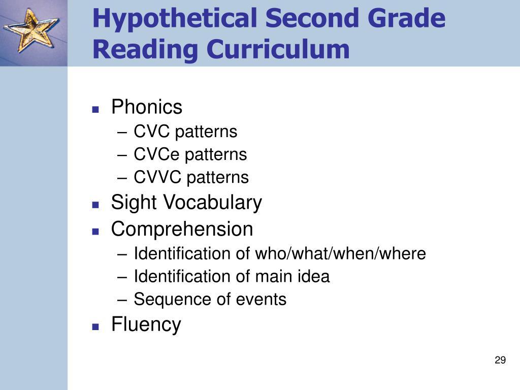 Hypothetical Second Grade