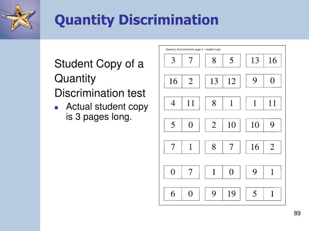 Quantity Discrimination