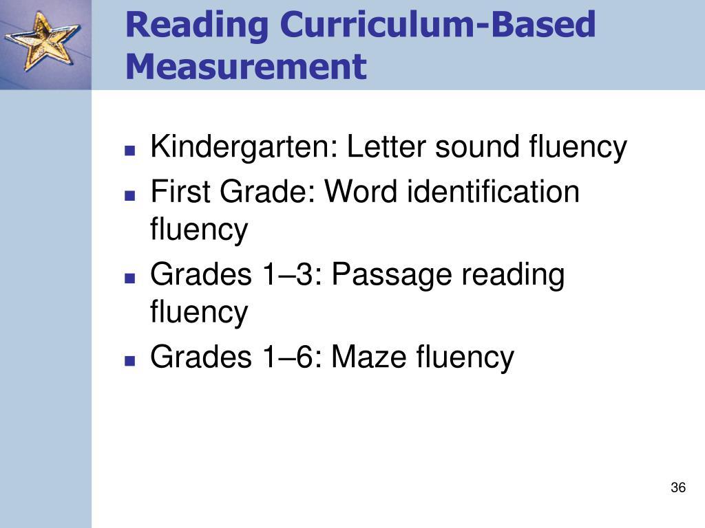 Reading Curriculum-Based Measurement