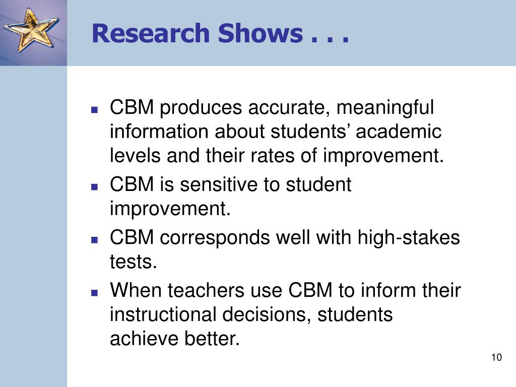 Research Shows . . .