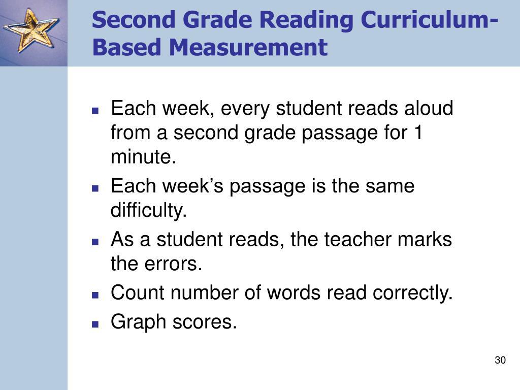 Second Grade Reading Curriculum-Based Measurement
