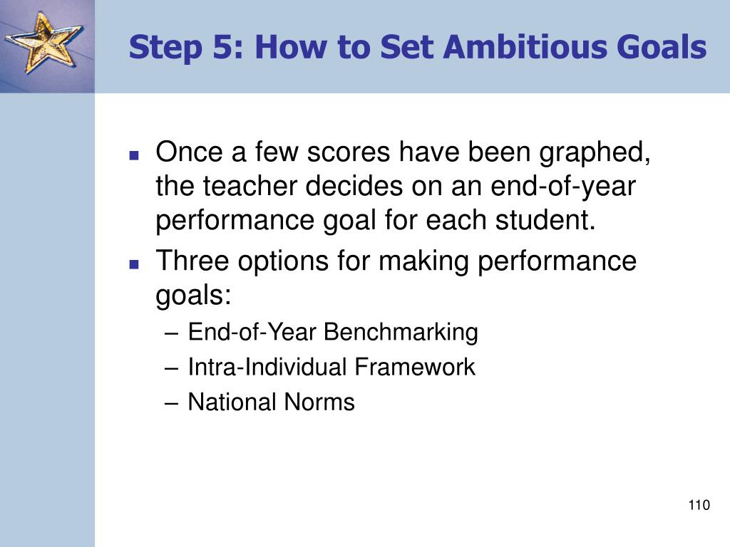 Step 5: How to Set Ambitious Goals