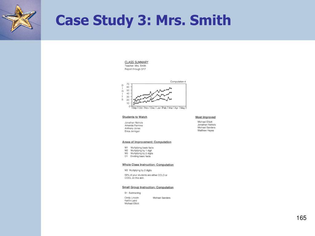Case Study 3: Mrs. Smith