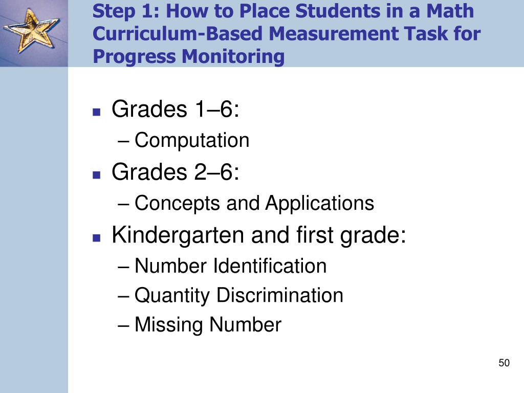 Step 1: How to Place Students in a Math Curriculum-Based Measurement Task for Progress Monitoring
