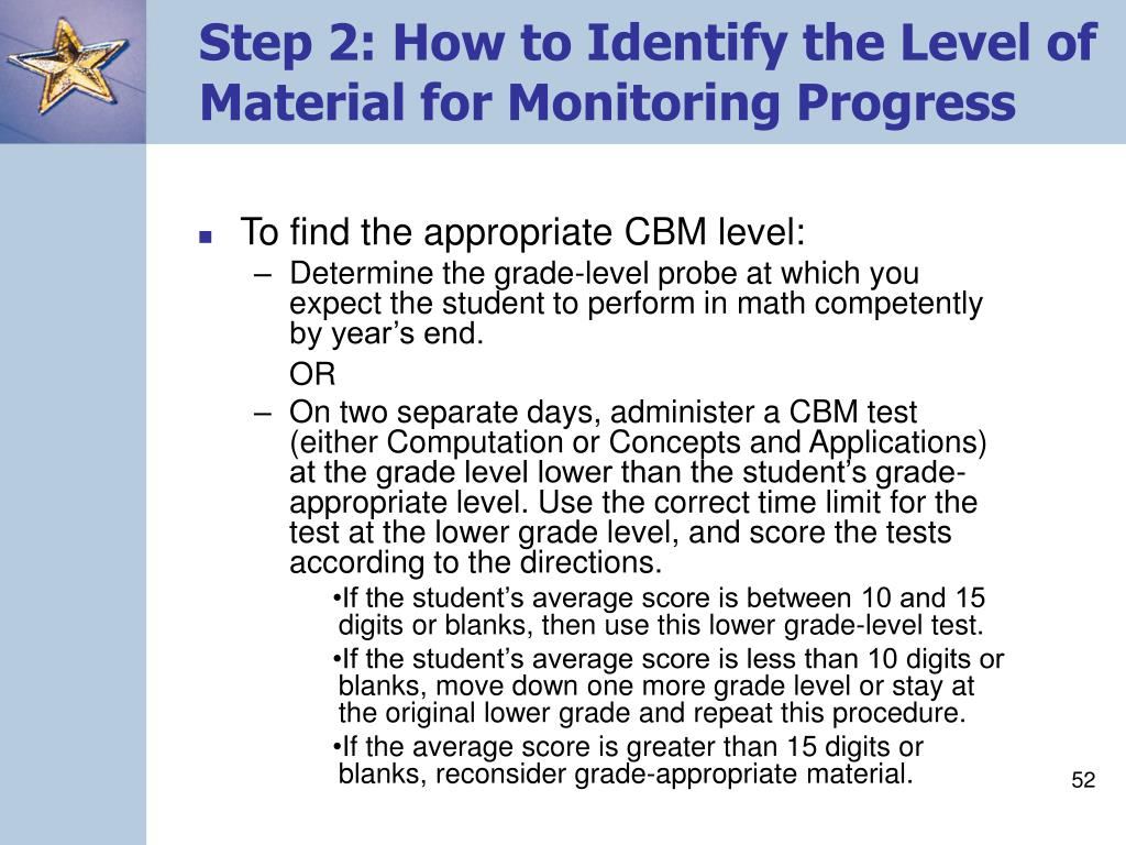 Step 2: How to Identify the Level of