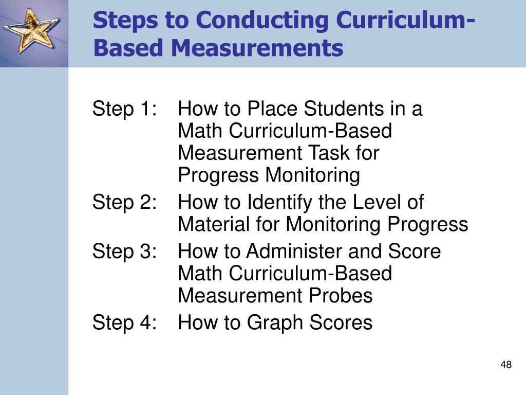 Steps to Conducting Curriculum-Based Measurements