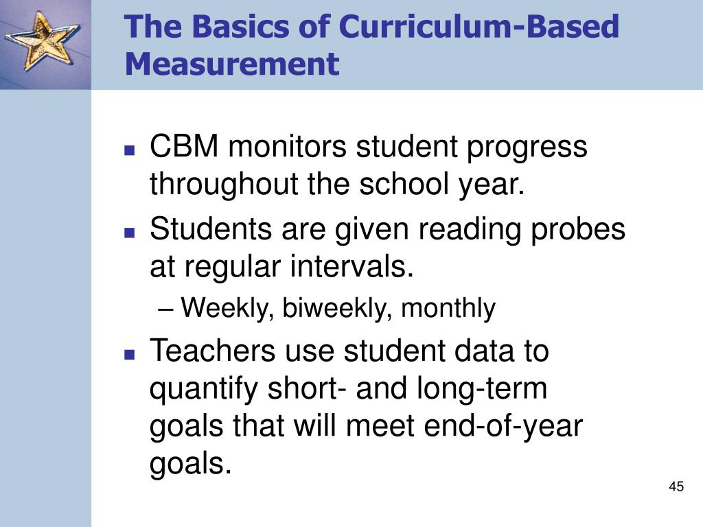 The Basics of Curriculum-Based Measurement