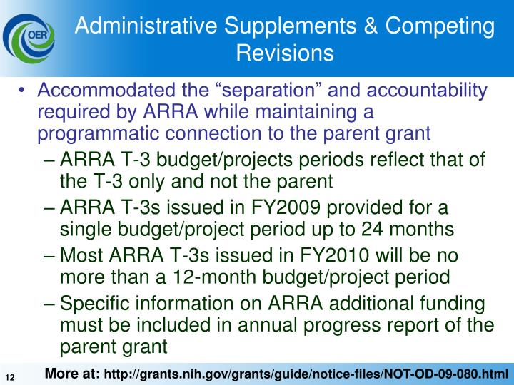 Administrative Supplements & Competing Revisions