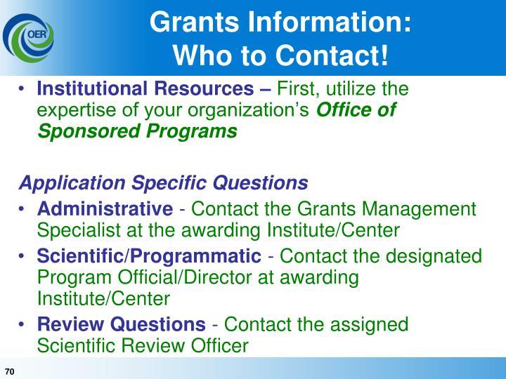 Grants Information: