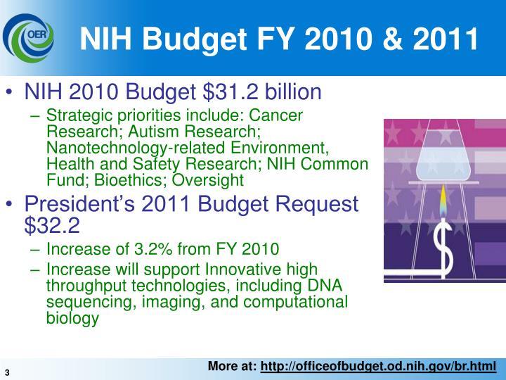 Nih budget fy 2010 2011