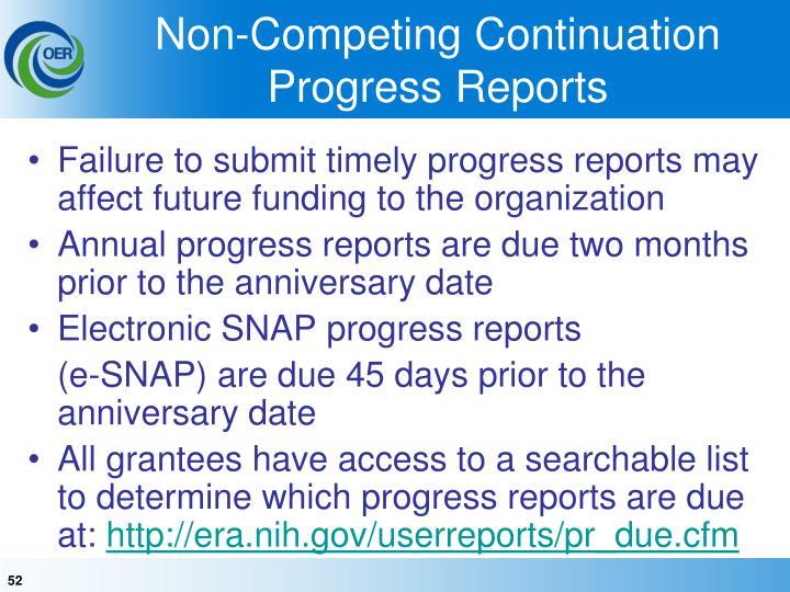 Non-Competing Continuation