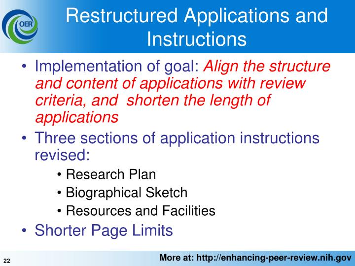 Restructured Applications and Instructions