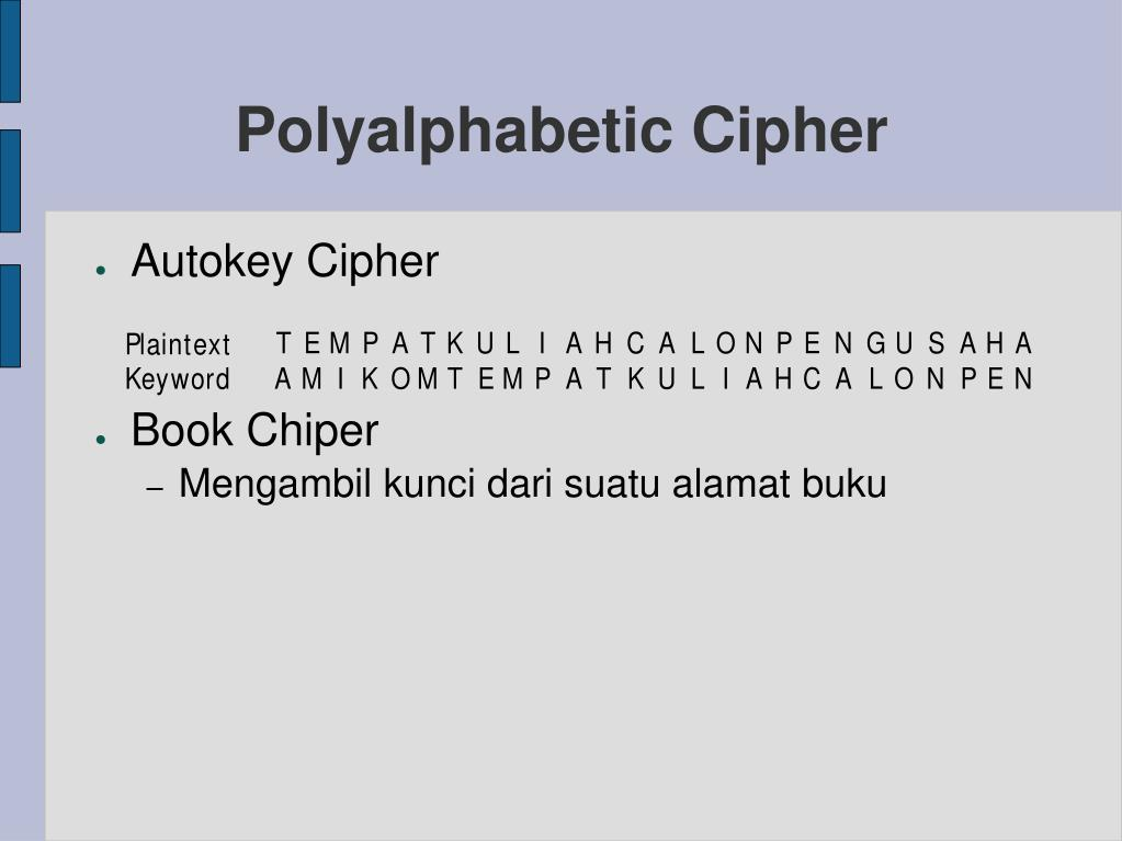 Polyalphabetic Cipher