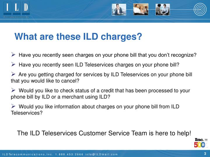 What are these ILD charges?