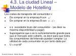 4 3 la ciudad lineal modelo de hotelling3