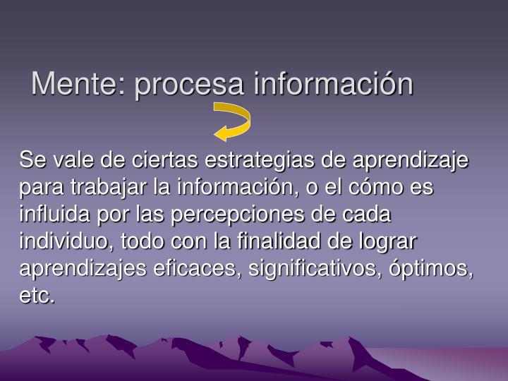 Mente procesa informaci n
