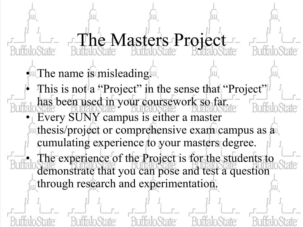 The Masters Project