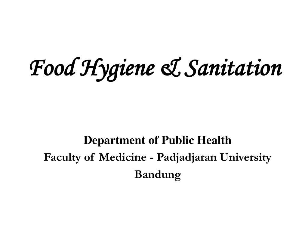 PPT - Food Hygiene & Sanitation PowerPoint Presentation - ID