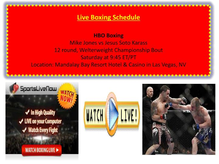 Live Boxing Schedule