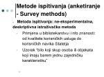 metode ispitivanja anketiranje survey methods